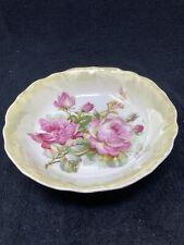 Rose pattern bavarian 8 inch bowl
