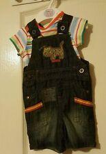 M&S baby boy romper dungaree (3-6-9-12mth)