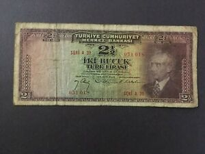 TURKEY  2 1/2 Lira  1930