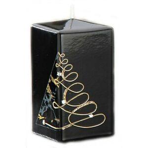 Kerze Noel - Vierkant/square - schwarz - 15x6cm