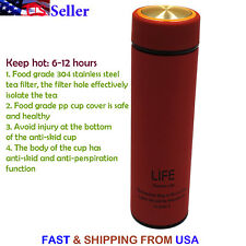 500ML Vacuum Insulated Bottle Thermos Double Wall Stainless Steel