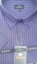 Camicie casual da uomo a manica corta misto cotone