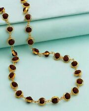 NATURAL RUDRAKSHA 22KT GOLD CIRCLE CHAIN EXCELLENT BLESSING SHIVA CHAIN JEWLELRY