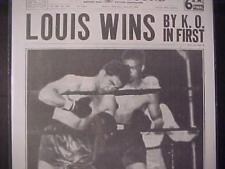 VINTAGE NEWSPAPER HEADLINE ~SPORTS BOXING FIGHT MAX SCHMELING KO JOE LOUIS WINS~