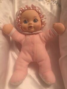 Playskool My Very Soft Baby Pink Doll Squeaker 1990 Vintage Plush