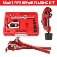 Brake Pipe Flaring Kit Fuel Repair Tool Set Tube Bender Cutter Storage Box   .-
