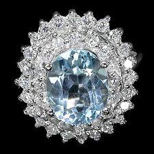 _LDN_Bague Topaze Bleu et Zirconia_Argent 925_T51/52_Fermeture de la boutique