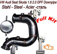 Downpipe DPF FAP Removal VW Golf 7 VII 1.6 2.0 TDI GTD 110 150 181 184 HP VAG4