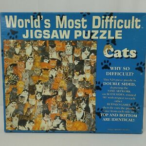 Cats Jigsaw Puzzle Worlds Most Difficult Double Sided 529 Pieces Ditz USA 1995
