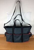 Skip Hop Duo Double Signature Diaper Bag Messenger Crossbody Baby Gray Red Black