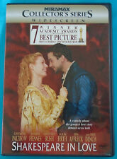 Shakespeare In Love (widescreen romantic comedy-drama Dvd) Gwyneth Paltrow