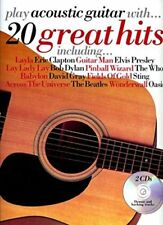 Partition+CD pour guitare voix - Play Acoustic Guitar - With 20 Great Hits