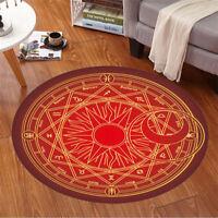 Card Captor Sakura Magic Circle Floor Door Mat Carpet Rug Home Round Anti Slip