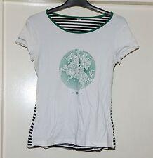Blanco T-Shirt Stripy atrás lituano | lietuviska Talla 8