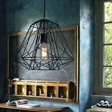 Vintage Drop Cage Chandelier Ceiling Pendant Metal Light Industrial Lamp Fixture