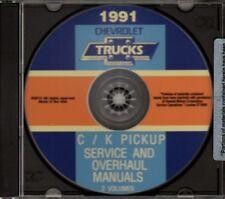 CHEVROLET 1991 Pick Up Truck, Cheyenne & Silverado Shop & Overhaul Manual CD