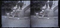 Bambini Bambola c1920 Foto Negativo Placca Da Lente Stereo Vintage VR16L2n17