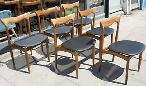 6x vintage H W Klein, Bramin 1960s Danish African Teakwood dining chairs