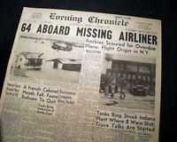 LARAMIE WYOMING United Airlines DC-4 Flight 409 Airplane CRASH 1955 Newspaper