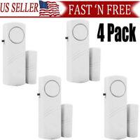 4Packs  Wireless Security Burglar Alarm Home Window Door System Magnetic Sensor