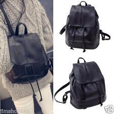 Women Leather Backpack Rucksack Travel School Bag Shoulder Bags Satchel