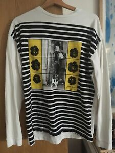 Jw Anderson Gilbert and George Collab White Long Sleeve Tshirt Top