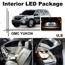 For GMC Yukon 2008-2014 Xenon White LED Interior kit + White License Light LED