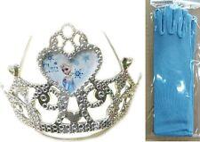 NEU Blau Eiskönigin Mädchen Snow Queen Elsa Cosplay Handschuhe Fäustlinge+ Krone