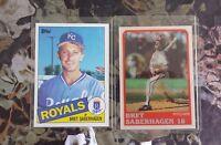 BRET SABERHAGEN 1 TOPPS CARD ROOKIE 1985 # 23 & 1 SPORTFLICES 1988 #15 MINT PLUS