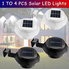Solar Powered Gutter Led Lights Outdoor Lighting Garden Fence Waterproof Lamps