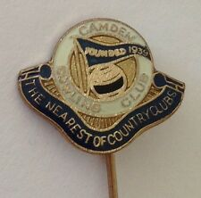 Camden Bowling Club Pin Badge The Nearest Of Country Clubs Vintage (L12)