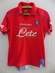 Napoli SSC Football Shirt Maglia Jersey 2007 2008 Diadora Away Original Camiseta