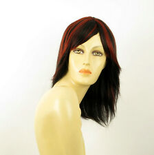 wig for women 100% natural hair black and red wick ref  JULIE 1b410 PERUK