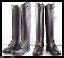 Polo Men Horse Riding Leather Long Zipper Ridding Real Leather Boots Tall Boots