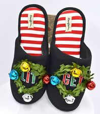 Dearfoams Women's Unisex Holiday Funny Character Ugly Scuff Slipper 11/12