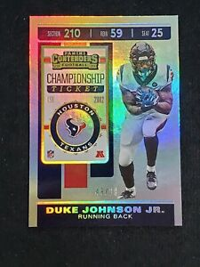 2019 Contenders Championship Ticket SP /99 #34 Duke Johnson Jr. Texans S5920K