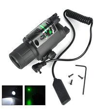 Green Dot Laser Sight Scope Rifle LED Flashlight Torch Hunting Mount Light Gun
