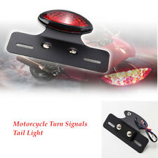 Motorcycle Led Turn Signals Tail Light Red Cafe Racer Rear Fender Edge Brake