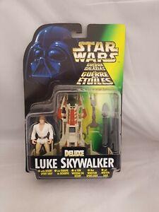 Star Wars Power of the Force 1996 Deluxe Luke Skywalker with Desert Sport Skiff