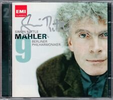 Sir Simon Rattle firmato MAHLER SYMPHONY NO. 9 di Berlino esibirsi 2cd Live