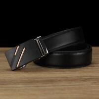 Men PU Leather Automatic Buckle Belts Fashion Waist Strap Belt Waistband Gift