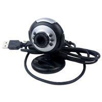 USB 6 LED Camara de vision nocturna PC Camara de web de red con microfono p Y9I1