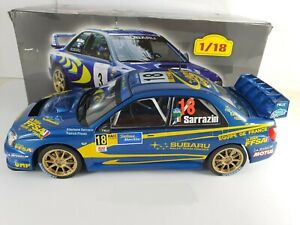 Subaru Impreza WRC - 2004 - S. Sarrazin 1/18 New in box car rally rallye
