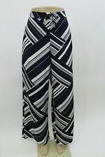 Liz Claiborne Blue & White Wide Leg Pants SZ L               J48