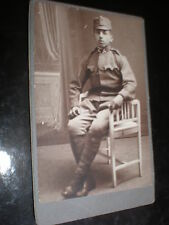 Cdv old photograph soldier seated Austria c1890s Ref 37(13)
