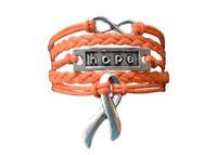 Orange Ribbon  Awareness Bracelet, Hope Bracelet - Perfect Awareness Jewelry