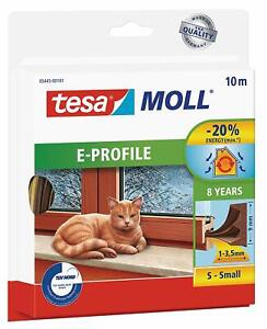 tesamoll E-Profile Self Adhesive Rubber Draft Excluder/ Seal Strip for window