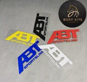 2*Audi ABT Sportline Sticker decal For All Models