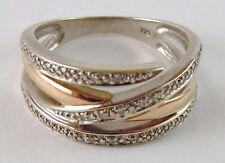 100% Genuine Vintage 9K White&Yellow Gold  Dress Ring with many Tiny Diamonds.