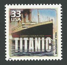 1997 Titanic 3D James Cameron Leonardo DiCaprio Kate Winslet US Movie Stamp MINT